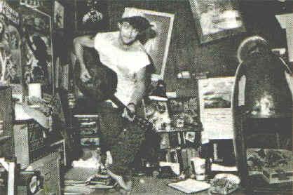 Claude Morgan at home